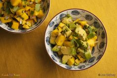 Fulfill all your sweet and savory dreams with this healthy, tropical, Mango Avocado Salsa delight. Mangos are full of nutrients.