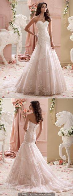 David Tutera for Mon Cheri Spring 2015 Bridal Collection | Style 115249 - Adalynn - created via http://pinthemall.net