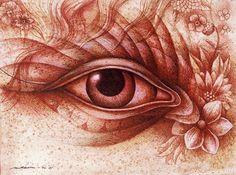 ドローイング 森の眼 春