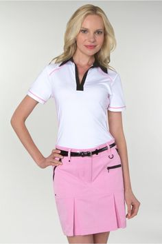 Think #pink with this #golf skort by #GGBlue at #pinksandgreens! You can never have too much pink in your closet! #golffashion