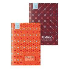 2 mini cadernos não pautados, com 20 páginas cada. Prático e no tamanho ideal para carregar na bolsa.