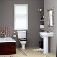 Armitage Shanks Lichfield Large Bathroom Washbasin.   Traditional Bathroom Basins from UK Bathrooms