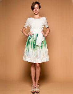 Very 50's! Spring Tulips Dress by Mrs Pomeranz by mrspomeranz on Etsy, £345.00
