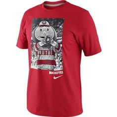 Ohio State Nike Brutus Buckeye Photo T-Shirt