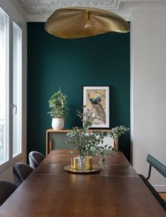 Accent Wall Plan for Dining Room. 20 Accent Wall Plan for Dining Room. How to Use Color In An Open Floor Plan — Old Brand New Green Dining Room, Dining Room Design, Dining Rooms, Teal Dining Room Paint, Design Kitchen, Dining Room Colors, Green Rooms, Design Scandinavian, Interior Design Minimalist