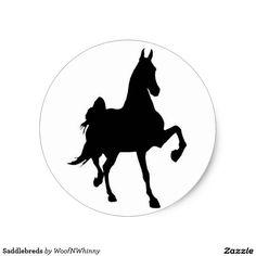 Saddlebreds by WoofNWhinny* Stickers #saddlebred #horse #gaited #saddleseat #horselover #giftideas #gifts
