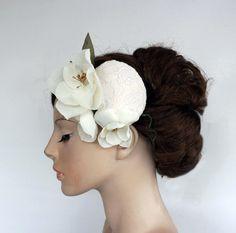Mini Hat Weddings Hair Fascinator Bridal Lacy by MammaMiaBridal
