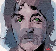 Macca by Enki Art : . Beatles Art, The Beatles, Portrait Art, Portraits, Modern Love, Rock N Roll, Fine Art America, Mixed Media, Wall Art
