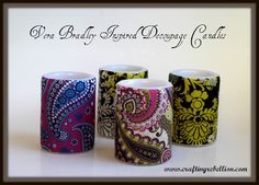 Crafting Rebellion: Vera Bradley Inspired Decoupage Battery Operated Candles - instructions