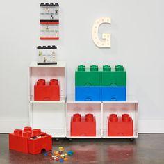 Lego Storage Drawers, Large Toy Storage, Dog Toy Storage, Playroom Storage, Storage Containers, Playroom Ideas, Storage Hacks, Diy Storage, Storage Ideas
