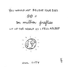 Owl City. Fireflies. 365 illustrated lyrics project, Brigitte Liem.