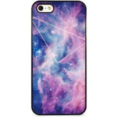 BlissfulCASE GALAXY PURPLE WITH GEO LINE IPHONE 5/5S CASE