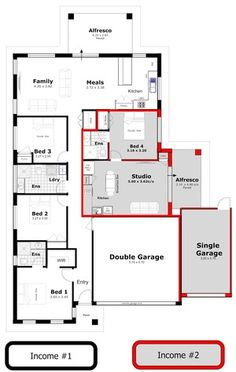What Is Dual Occupancy 14 Marvelous House Designs Duplex Floor Plans, House Floor Plans, Duplex Design, House Design, 10 Marla House Plan, Granny Flat Plans, Property Design, Paper Houses, Dream House Plans