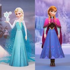 Tektonten Papercraft - Free Papercraft, Paper Models and Paper Toys: Disney's Frozen Papercraft: Elsa and Anna