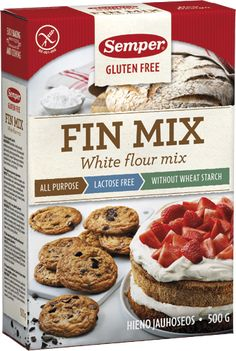 Finnish gf self raising flour mix Chocolate Chip Cookie, Chocolate Chips, Fodmap Diet, Lactose Free, Gluten Free Recipes, Free Food, Muffin, Cookies, Breakfast