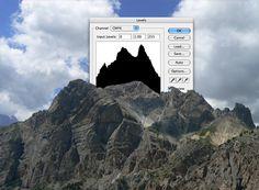 photoshop levels landscapes