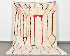 rachel greene on Etsy Morrocan Rug, Moroccan, Beni Rugs, Art Deco Rugs, Leather Pouf, Beni Ourain, Berber Rug, Rug Making, Handmade Rugs