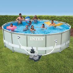 Intex metal frame pool komplett set 549x122 cm 54952gs for 7in1 set garten pool 457 x 91 cm