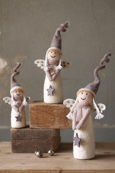 felt christmas angels - be nice done in clay