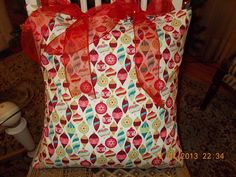 Pillow Cover  Holiday Decor  Indoor Use  18 x 18  by InFullBloomCo, $29.00