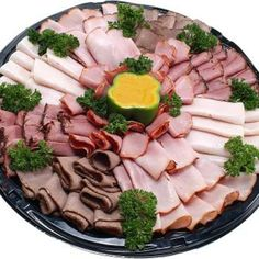 Roll each individual slice of deli meat for easy serving.