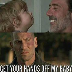 The Walking Dead Judith, Negan and Shane