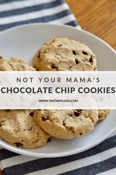 Not Your Mama's Chocolate Chip Cookies - Instant Loss - Conveniently Cook Your Way To Weight Loss Dairy Free Chocolate Chips, Vegetarian Chocolate, Chocolate Chip Cookies, Gluten Free Desserts, Delicious Desserts, Dessert Recipes, Yummy Food, Oven Recipes, Blender Recipes