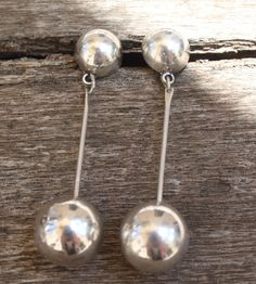 """Gorgeous TAXCO STERLING 3"""" drop earrings. Mint condition. Likely from the 60's or 70's. 1000 pesos."""