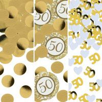 Golden 50th Anniversary Party Supplies - Party City