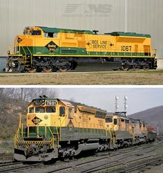 Norfolk Southern Heritage Engines: Then and Now, Trains Magazine - On May 24, Norfolk Southern releases its 12th heritage unit, SD70ACe No. 1067, which wears Reading Company's yellow paint scheme Norfolk Southern celebrates its 30th anniversary by rolling out locomotives in heritage paint. Find out what the predecessor railroads' paint schemes looked like in this exclusive photo gallery.