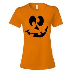 Halloween Women's T-Shirt Pumpkin ($16) ❤ liked on Polyvore featuring tops, t-shirts, lullabies, orange, women's clothing, orange top, long tops, orange shirt, orange t shirt and vinyl shirt