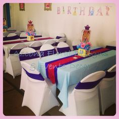 Sleeping Beauty Princess Table Setting for Girls Parties in Chiswick ...