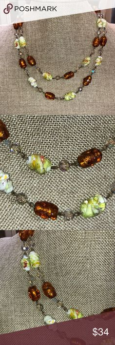 """Vintage Venetian Murano Glass Cake Bead Necklace * Beautiful Necklace in excellent condition * Necklace measures 20"""" * Please see photos * Offers welcomed and always glad to bundle !! Jewelry Necklaces"""