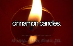 Things i love about fall: mmmmm cinnamon apple or mulberry candles.