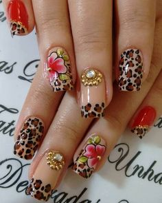 Pin by gabriela burlacu on unghii ногти Gothic Nails, Leopard Nails, Fabulous Nails, Cool Nail Designs, Sweet Life, Beauty Nails, Summer Nails, Cute Nails, Art For Kids