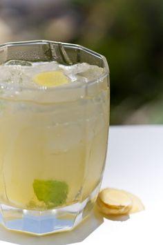 Iced lemon, ginger, mint - fever, scratchy throat, dehydration, headache
