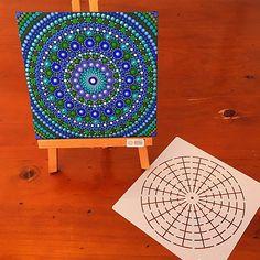 Lge 16 segment Mandala Stencil / Template Perfect for keeping your work symmetrical. #dotpainting #mandala #dotart #stencil #dotillism #happydottingcompany