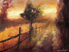 Road at Sunset, Florence, Italy by Los Angeles artist Christopher Clark.