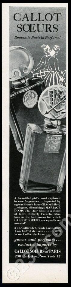 *an original 1947 print ad for Callot Soeurs!