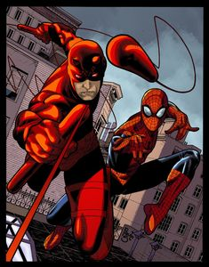 Daredevil and Spider-Man June 8 2014 by Timothy-Brown