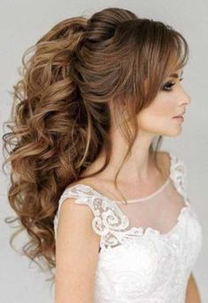 hair curly wedding hair updos wedding hair hair flowers hair stylists near me hair for bridesmaids hair and makeup near me wedding hair styles Wedding Hairstyles For Long Hair, Wedding Hair And Makeup, Bridal Hair, Hair Wedding, Prom Hair, Hairstyle Wedding, Ponytail Wedding Hair, Everyday Hairstyles, Wedding Dresses