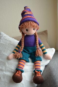 Knitting Dolls Free Patterns, Knitted Dolls Free, Crochet Square Patterns, Crochet Dolls, Doll Toys, Baby Dolls, Knitted Animals, Pretty Dolls, Crafts