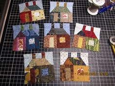 "She's making 366 of these 3"" houses; 1 a day all year."