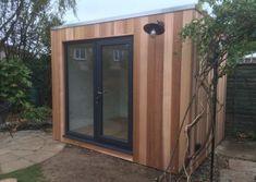 Contemporary gallery on Sanctum Garden Studios Modern Patio Doors, Garden Studio, Sheds, Studios, Therapy, Gardens, Outdoor Structures, Cabin, Contemporary