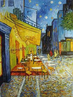A Cafe Terrace At Night