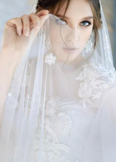 AVRELIA / Pearl wedding dress with rich beautiful hand embroidery lace low back corset brautkleid ethereal tulle bridal gown short sleeves Corset Wedding Gowns, Wedding Bridesmaid Dresses, Bridesmaids, Tulle Wedding, Bridal Gown, Mermaid Wedding, Low Back Corset, Cathedral Wedding Veils, Amazing Wedding Dress