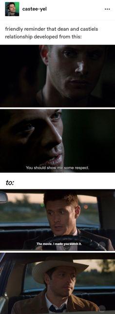 Supernatural Pictures, Supernatural Destiel, Castiel, Spn Memes, Funny Memes, Great Love Stories, Love Story, Cockles, Winchester Boys