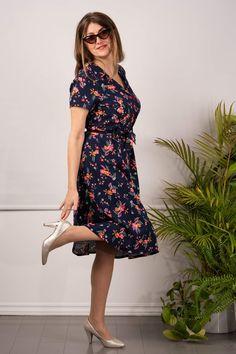 Wrap Dress, Vintage, Dresses, Fashion, Vestidos, Moda, Fashion Styles, Vintage Comics, Dress