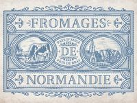 poster for Fromages Normandie by French designer Jean-Charles Desevre