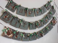 Football Happy Birthday Banner by ASweetCelebration on Etsy, $37.50